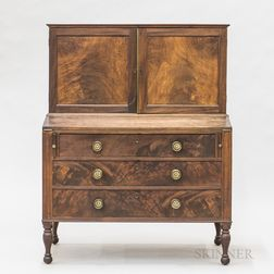 Classical Mahogany and Mahogany Veneer Secretary