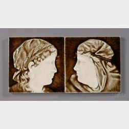 Two Decorated Tiles: Providential Tile Works