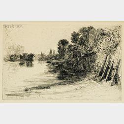 Sir Francis Seymour Haden (British, 1818-1910)      Brentford Ferry