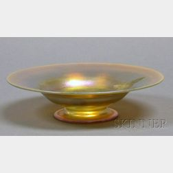 Tiffany Gold Favrile Bowl with Butterfly
