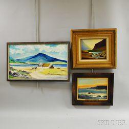 Three Framed Oil Paintings