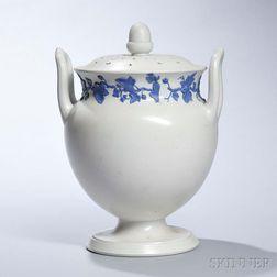Wedgwood White Smear Glazed Stoneware Potpourri Vase and Covers