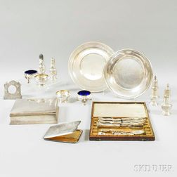 Twenty-three Miscellaneous Sterling Silver Table Items