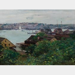 Walter Clark (American, 1848-1917)      View of Gloucester Harbor from Banner Hill