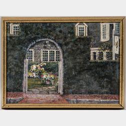 Jack Eastman Brown (American, 1922-2000)      Through the Garden Arch, The Chanticleer Restaurant, Nantucket