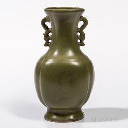 Teadust-glazed Vase
