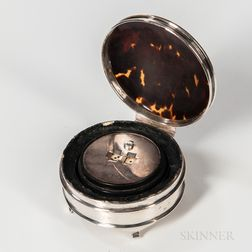 """Sterling Silver Game Box with Spinning """"Dice,"""""""