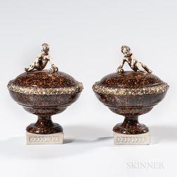 Pair of Wedgwood & Bentley Porphyry Chimney Ornaments