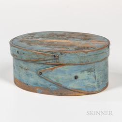Small Light Blue-painted Pantry Box