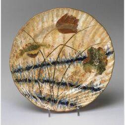 Emile Galle Decorated Ceramic Plate
