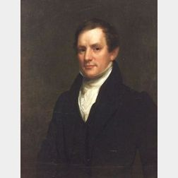 Attributed to Samuel L. Waldo, (American, 1783-1861)  Portrait of Gentleman.