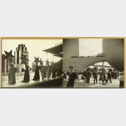 Walfred Robert Moisio (American, 1910-2002)   Group of Five Untitled Photographs Taken at the 1939 World's Fair