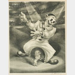 Harry Sternberg (American, 1904-2002)    Poodle and the Clown