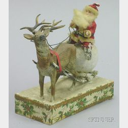 Santa and Reindeer Candy Container