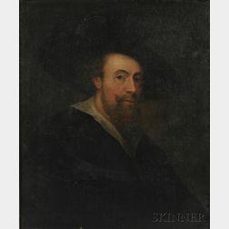 After Sir Peter Paul Rubens (Flemish, 1577-1640)      Copy of Rubens' Self Portrait of 1623