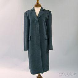 Akris Gray Cashmere Overcoat