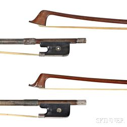 Two Silver-mounted Cello Bows
