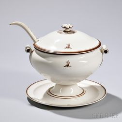 Wedgwood Queen's Ware Covered Soup Tureen and Stand