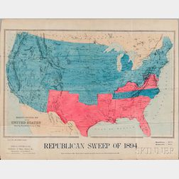 United States, Political Map, Republican Sweep of 1894.
