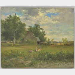 American School, 20th Century       Double-sided Landscape Scenes