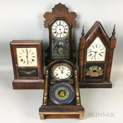 Four American Shelf Clocks
