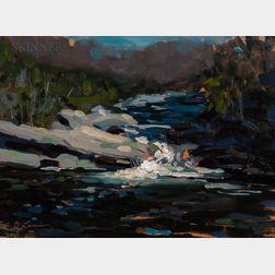 David Lussier (American, b. 1959)      River Landscape