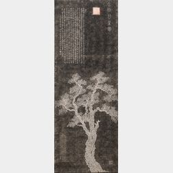 Hanging Scroll Rubbing of Zhaobo Gantang  , Sweet Pear