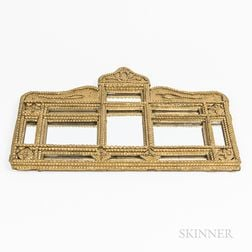 Gold-painted Tramp Art Mirror