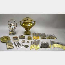 Group of Silver and Metal, Table and Flatware Items