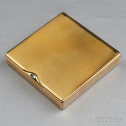 Retro 14kt Gold Compact, Cartier