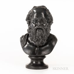 Wedgwood & Bentley Black Basalt Bust of Socrates