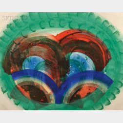 Howard Hodgkin (British, b. 1932)      Red Palm