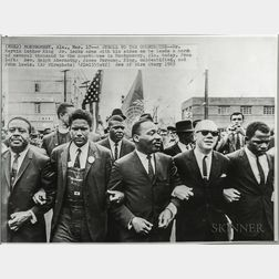 Two Dr. Martin Luther King, Jr., Press Photographs