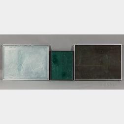 Three Lada Semecká Art Glass Wall Sculptures