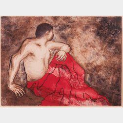 Rudolph Carl Gorman (Navajo, 1932-2005)      Navajo in a Blanket