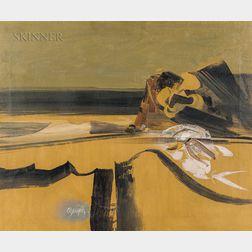Alejandro Obregón (Colombian, 1920-1992)      Yellow Landscape
