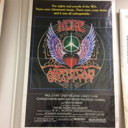 Three One-sheet Movie Posters for More American Graffiti and American Graffiti is back!     Estimate $20-200