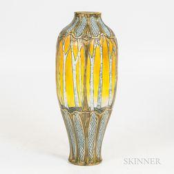 Stephanie Young Art Nouveau-style Ceramic Vase