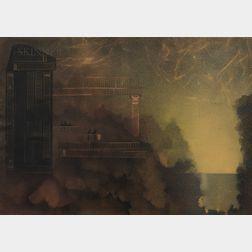 Corrado Cagli (Italian, 1910-1976)      Balconies at Night