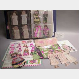 Three-ring Binder of Advertising Dolls with Additions
