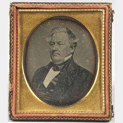 Portrait Daguerreotype of  Thirteenth U.S. President, Millard Fillmore (1800-1874)