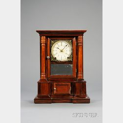 "Rosewood ""London"" 30-Day Fusee Shelf Clock by Atkins Clock Company"
