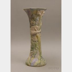 Weller Pottery Calla Lily Decorated Vase