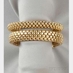 Two 18kt Gold Bracelets