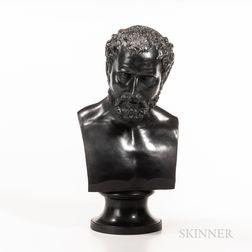 Wedgwood Black Basalt Bust of Antoninus Pius
