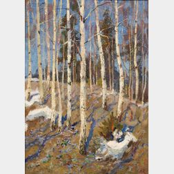 Mark Kremer (Russian, b. 1928)      Early Spring