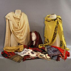 Fourteen Assorted Indian Textiles