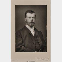 W. & D. Downey Studio (English, active c. 1860-1910)       Tsarevich Nicholas Alexandrovich