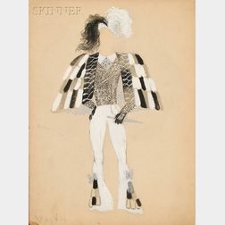 Marcel Vertès (Hungarian/French, 1895-1961)      Costume Design for Michel Fokine's Bluebeard ,  Ballet Theater