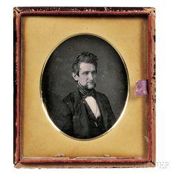 American School, 19th Century      Half-plate Daguerreotype Portrait of Eli Westcott Bailey (1809-1899)